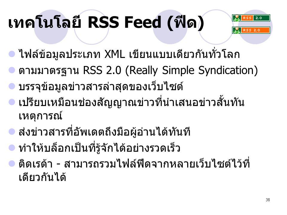 เทคโนโลยี RSS Feed (ฟีด)