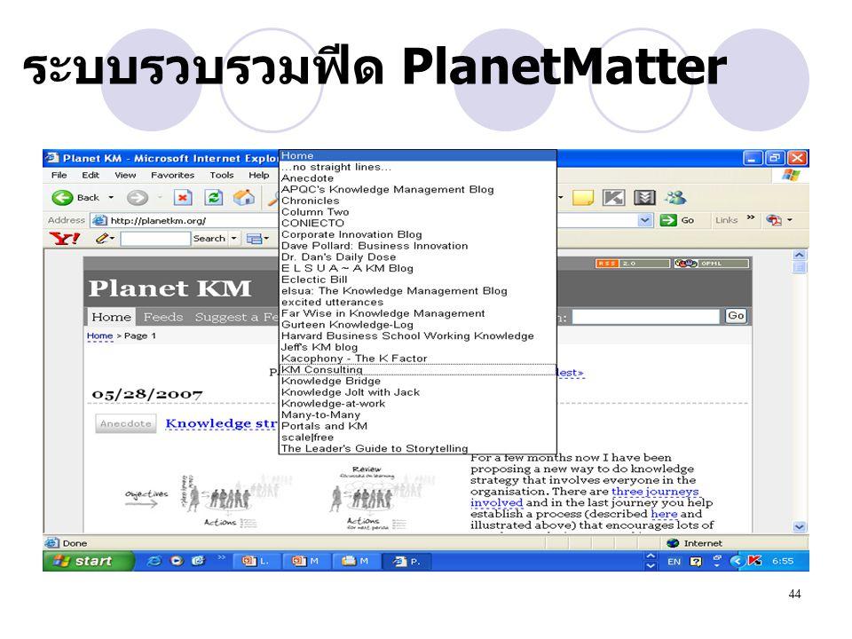 ระบบรวบรวมฟีด PlanetMatter