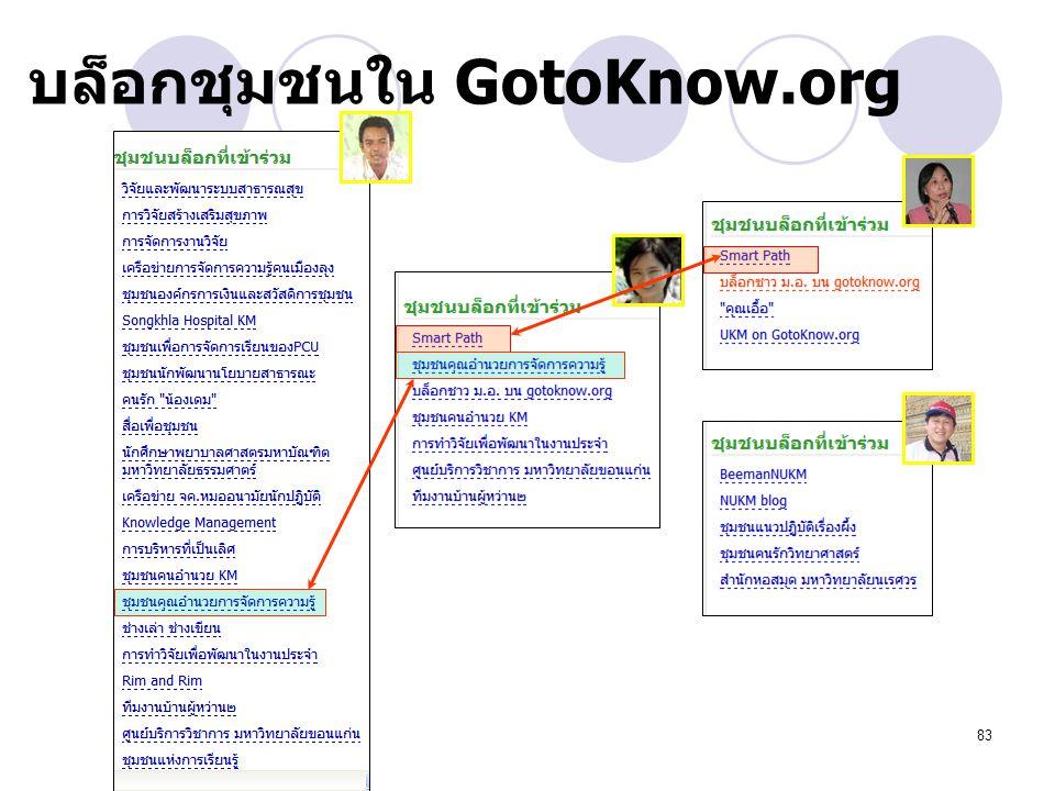 บล็อกชุมชนใน GotoKnow.org