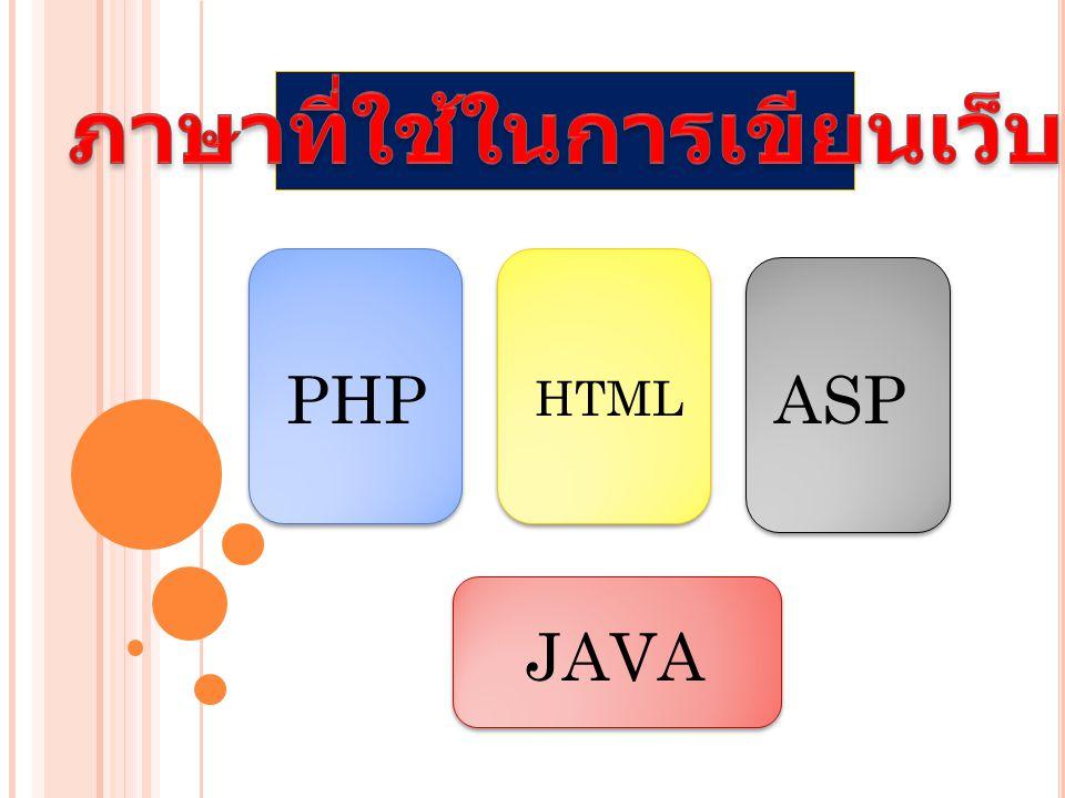 ภาษาที่ใช้ในการเขียนเว็บ