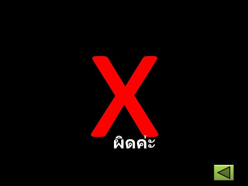 x ผิดค่ะ