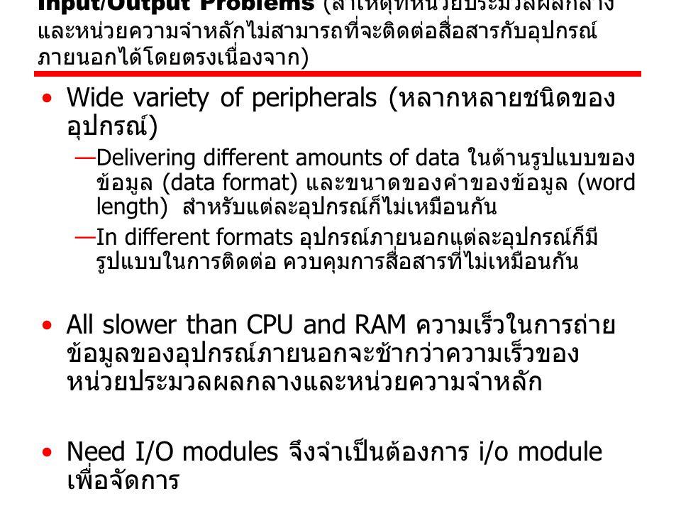 Wide variety of peripherals (หลากหลายชนิดของอุปกรณ์)