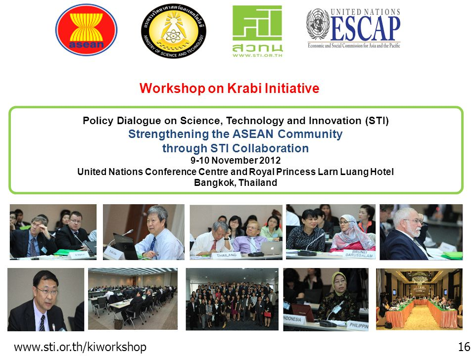 Workshop on Krabi Initiative
