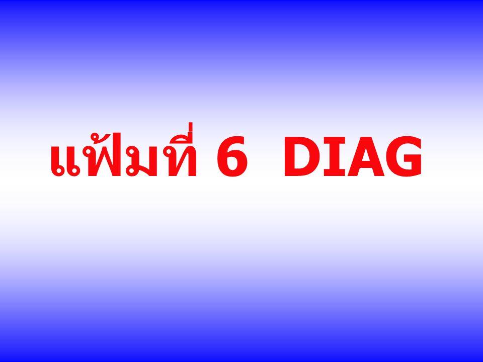 แฟ้มที่ 6 DIAG