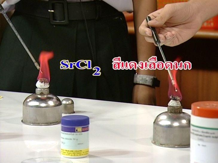 - สเปกตรัมของแก๊สที่บรรจุในหลอดไฟ