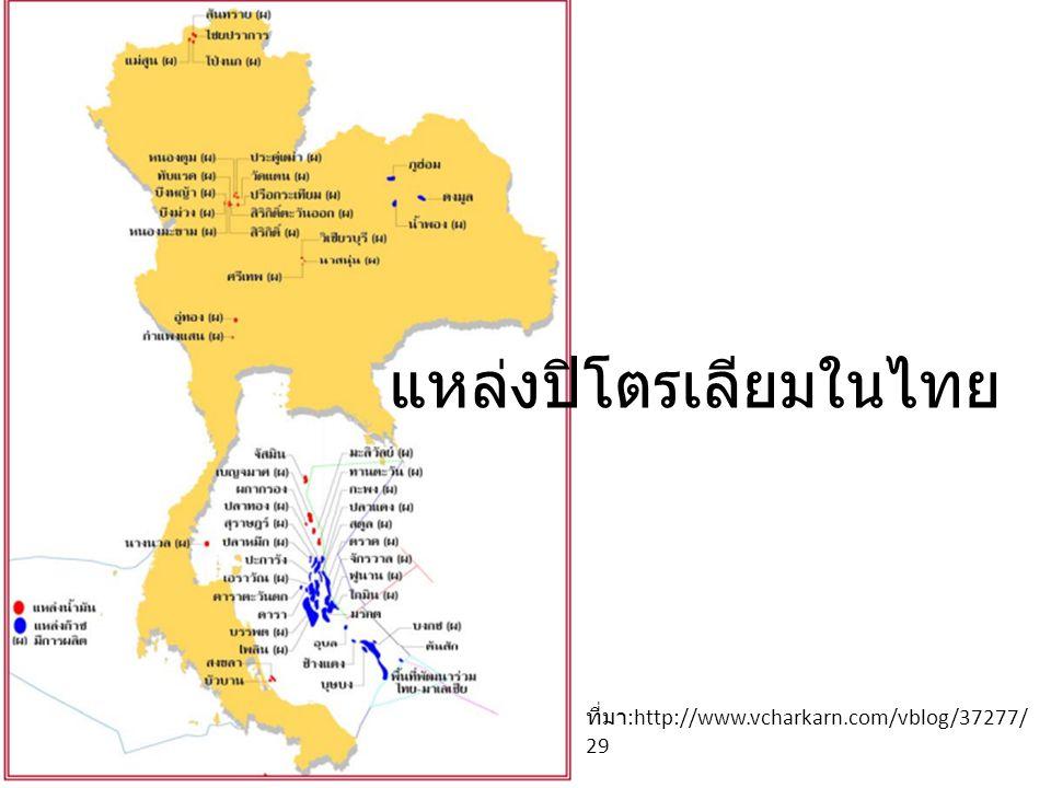 แหล่งปิโตรเลียมในไทย