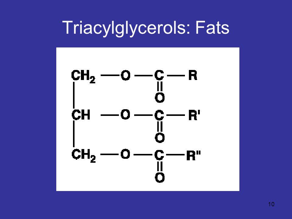 Triacylglycerols: Fats