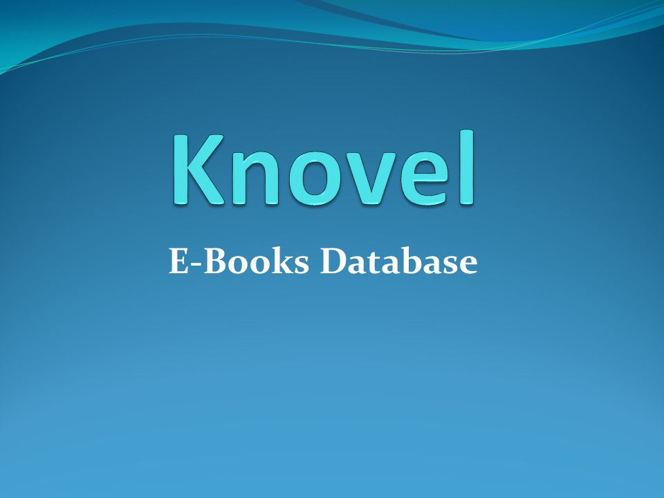 Knovel E-Books Database