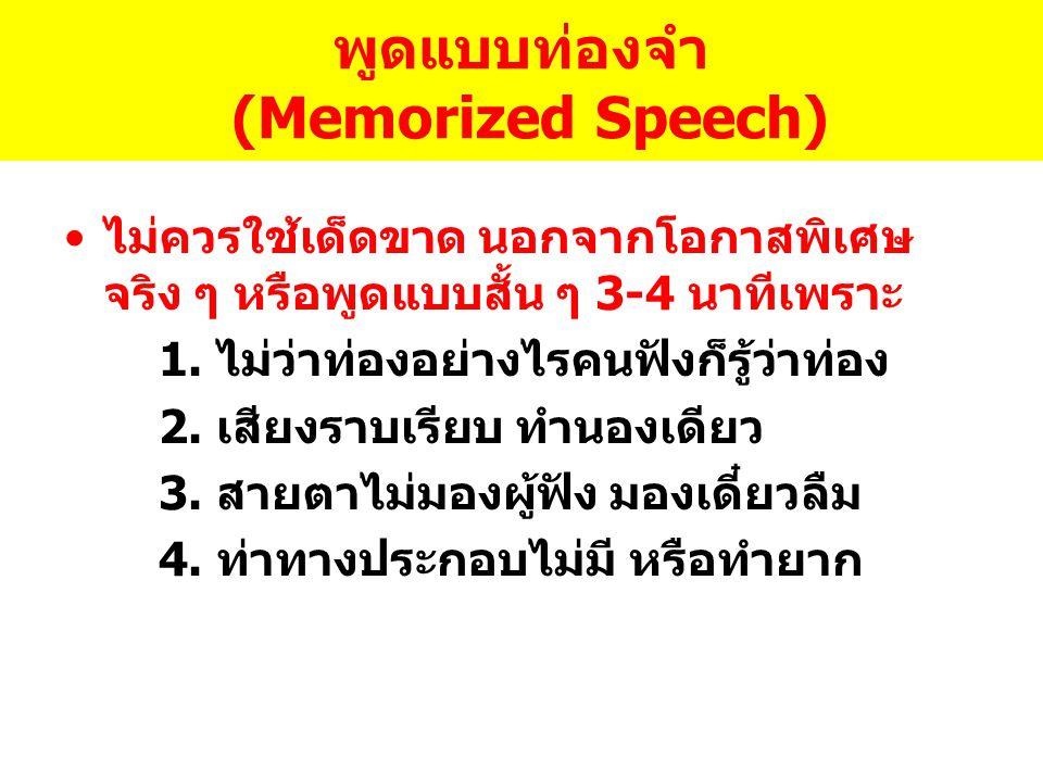 พูดแบบท่องจำ (Memorized Speech)