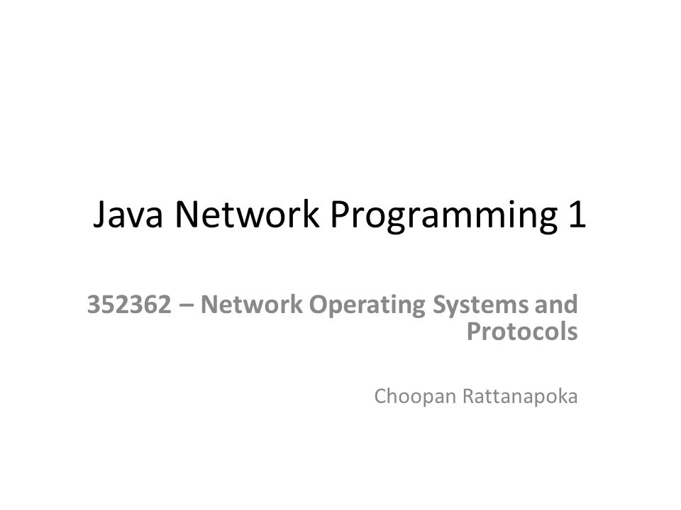 Java Network Programming 1