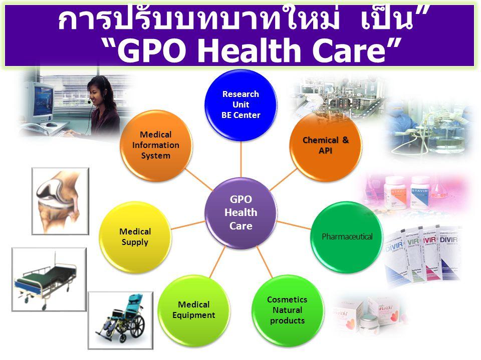 การปรับบทบาทใหม่ เป็น GPO Health Care