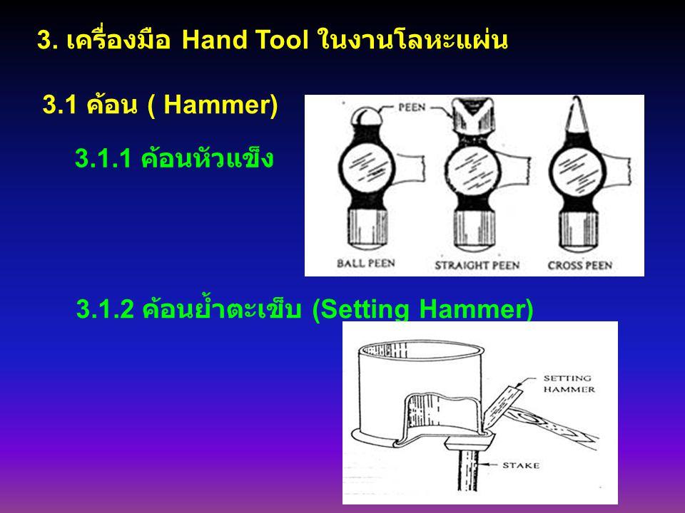 3. เครื่องมือ Hand Tool ในงานโลหะแผ่น