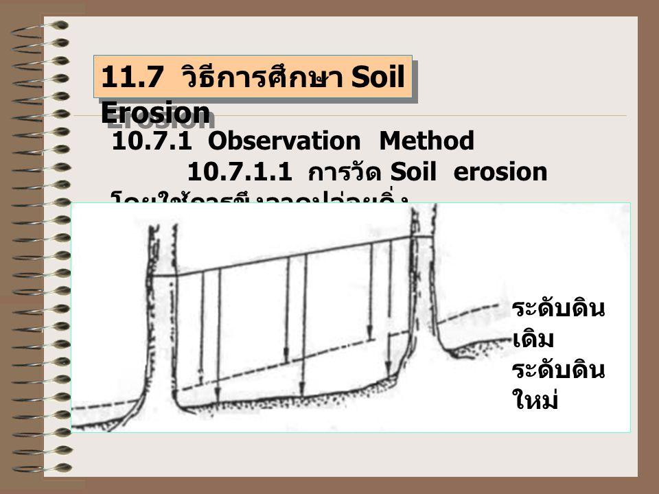 11.7 วิธีการศึกษา Soil Erosion