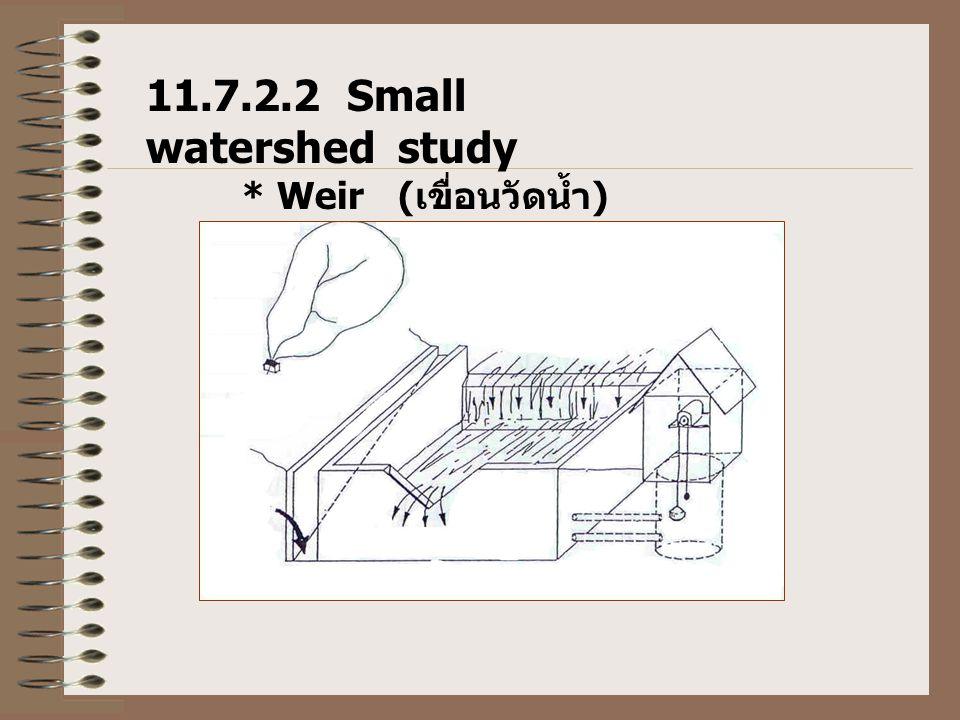 11.7.2.2 Small watershed study * Weir (เขื่อนวัดน้ำ)