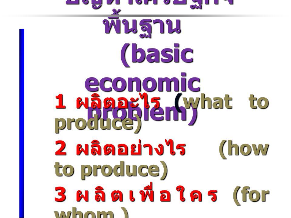 ปัญหาเศรษฐกิจพื้นฐาน (basic economic problem)