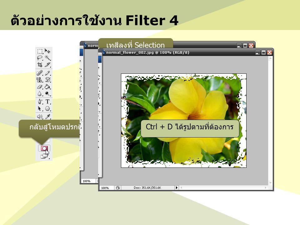 ตัวอย่างการใช้งาน Filter 4