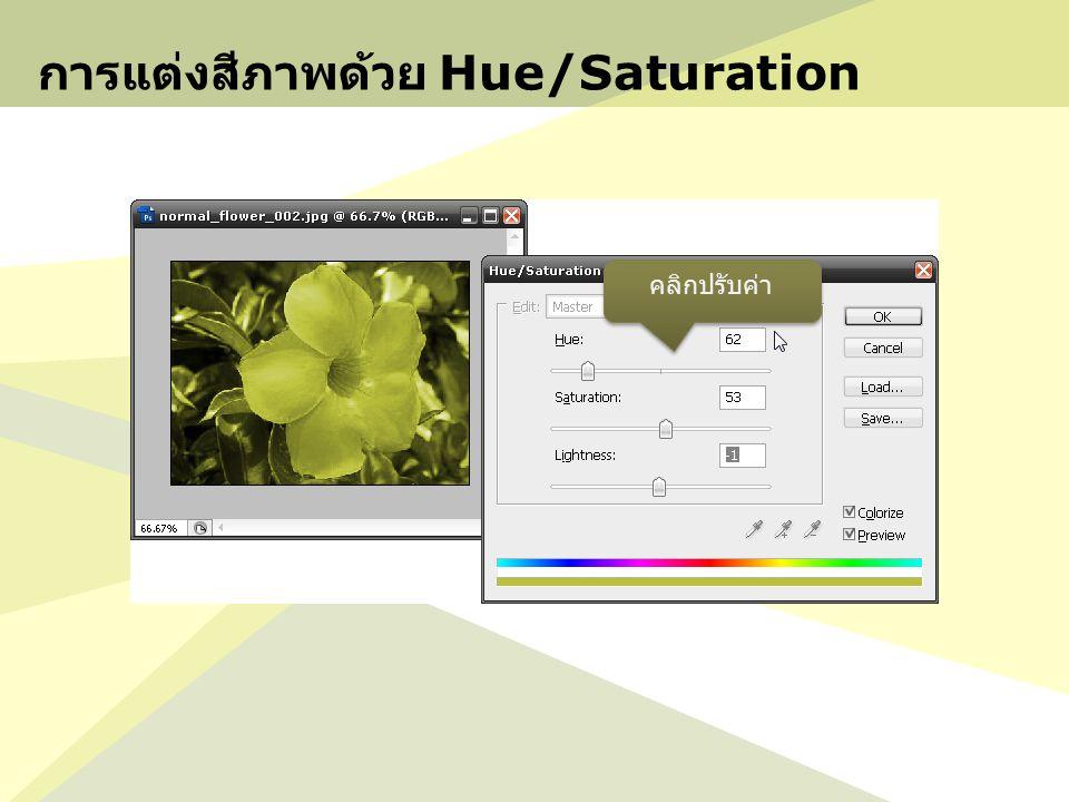 การแต่งสีภาพด้วย Hue/Saturation