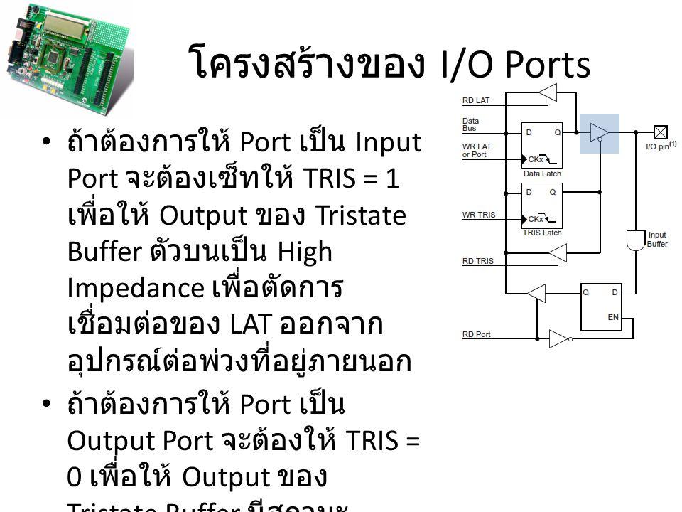 โครงสร้างของ I/O Ports