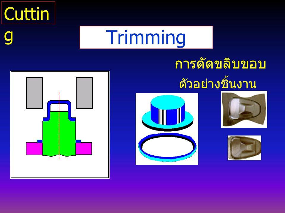 Cutting Trimming การตัดขลิบขอบ ตัวอย่างชิ้นงาน