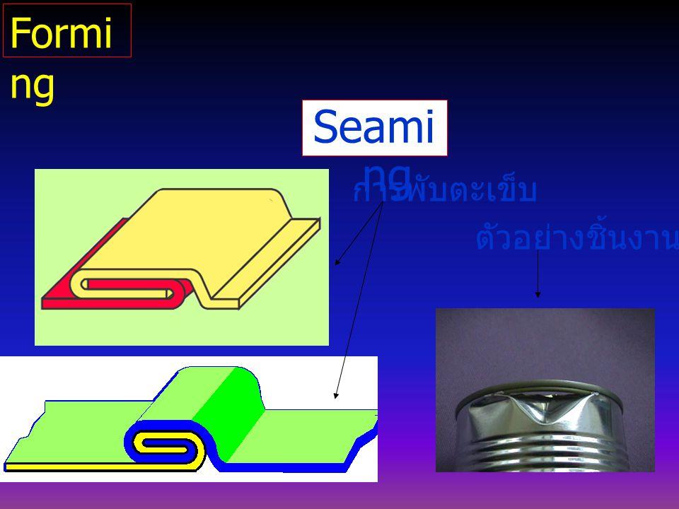 Forming Seaming การพับตะเข็บ ตัวอย่างชิ้นงาน