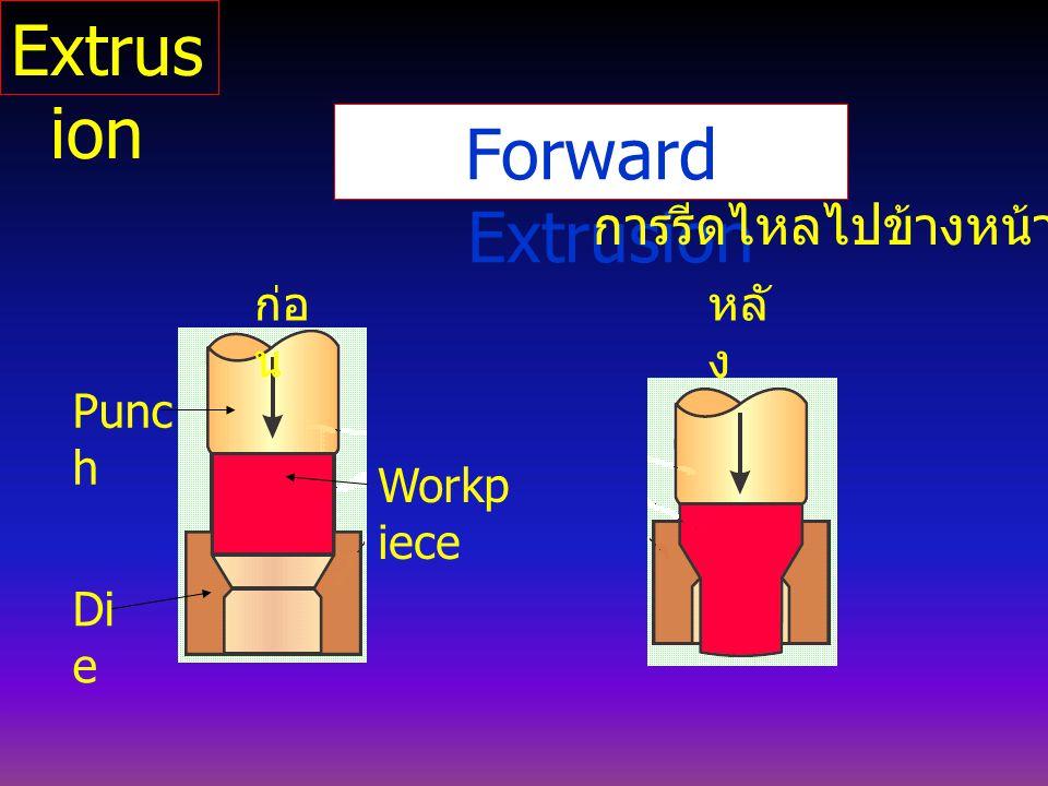 Extrusion Forward Extrusion การรีดไหลไปข้างหน้า ก่อน หลัง Punch