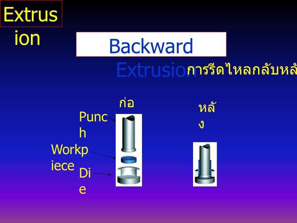 Extrusion Backward Extrusion การรีดไหลกลับหลัง ก่อน หลัง Punch