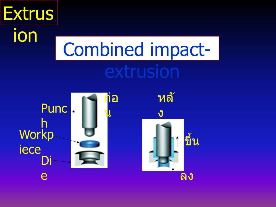 Combined impact-extrusion