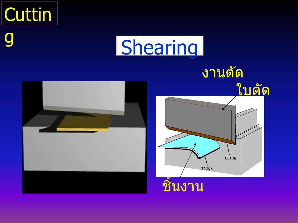 Cutting Shearing งานตัด ใบตัด ชิ้นงาน