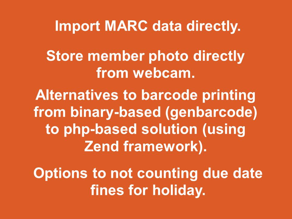 Import MARC data directly.