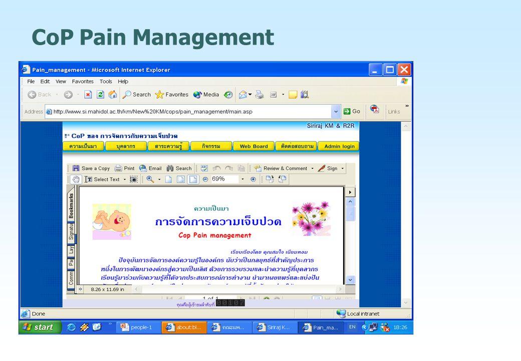 CoP Pain Management