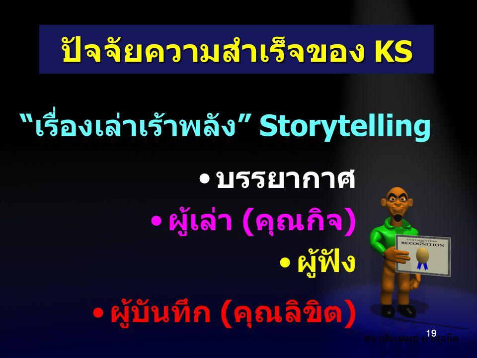 ปัจจัยความสำเร็จของ KS
