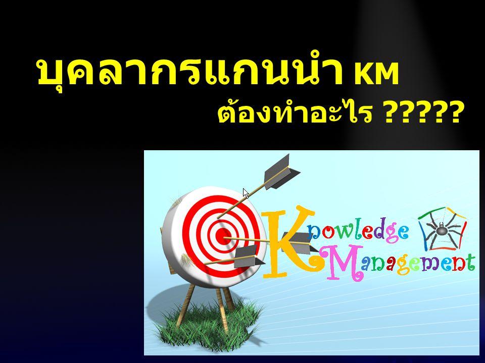 บุคลากรแกนนำ KM ต้องทำอะไร