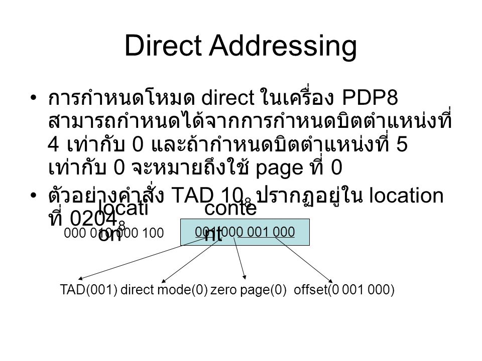 Direct Addressing