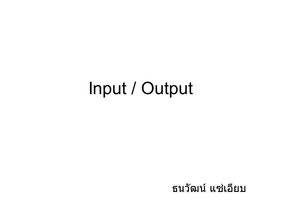 Input / Output ธนวัฒน์ แซ่เอียบ