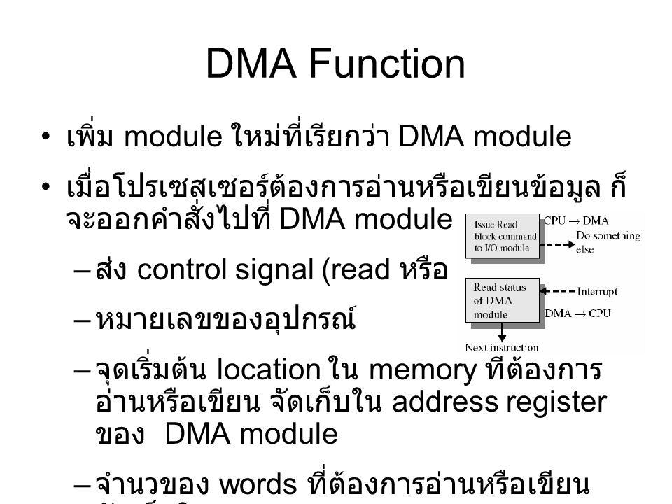 DMA Function เพิ่ม module ใหม่ที่เรียกว่า DMA module
