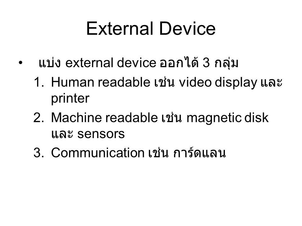External Device แบ่ง external device ออกได้ 3 กลุ่ม