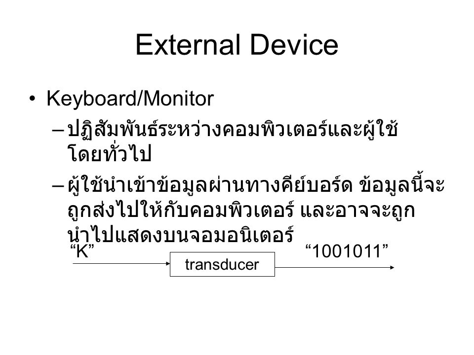 External Device Keyboard/Monitor