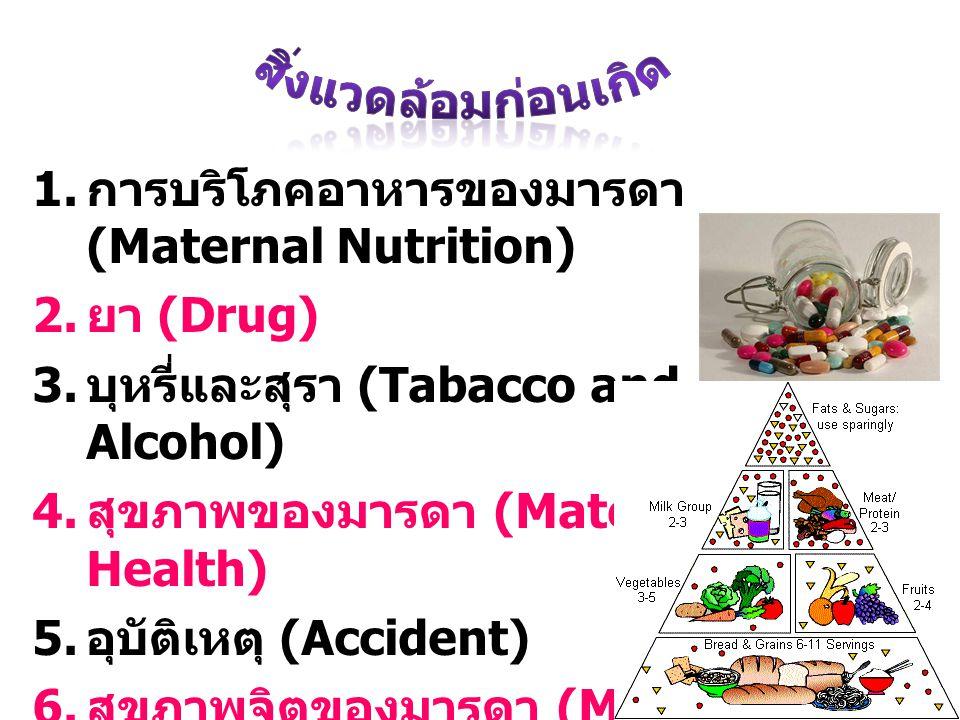 สิ่งแวดล้อมก่อนเกิด การบริโภคอาหารของมารดา (Maternal Nutrition)
