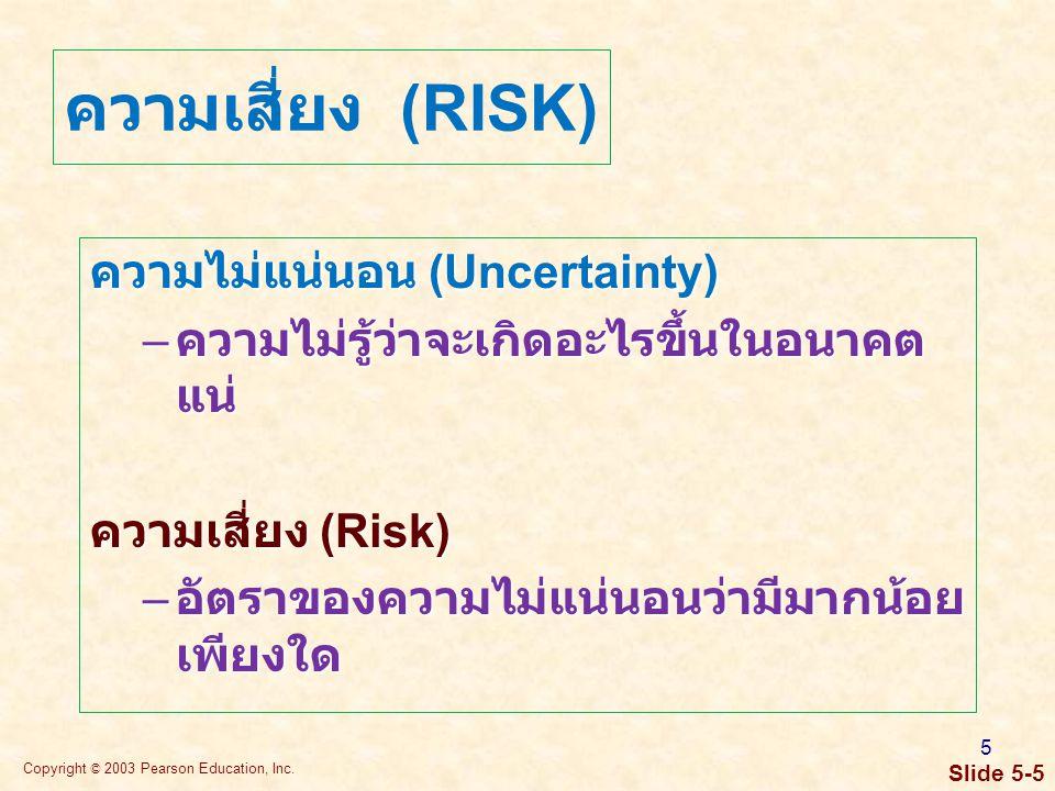ทัศนคติที่มีต่อความเสี่ยง (Risk Attitude)