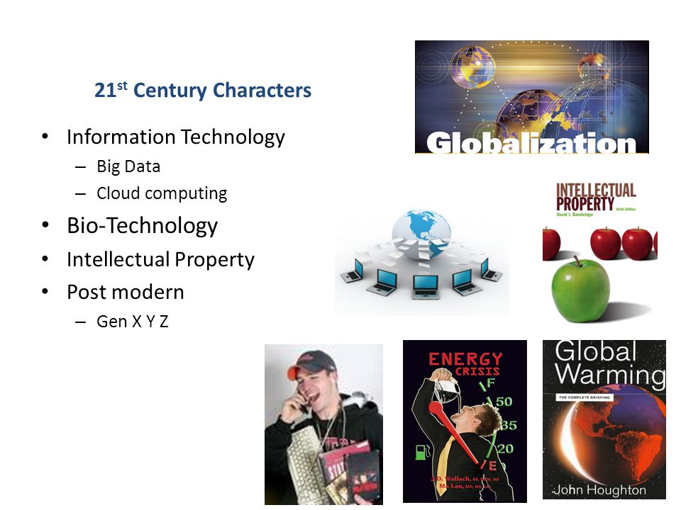 Bio-Technology 21st Century Characters Information Technology
