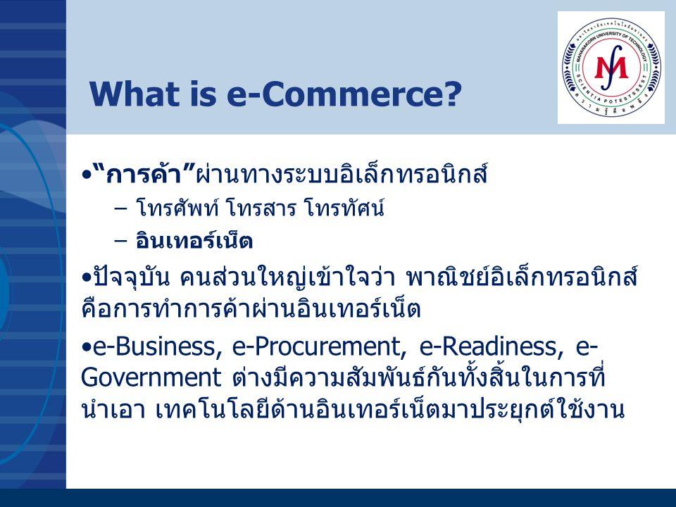What is e-Commerce การค้า ผ่านทางระบบอิเล็กทรอนิกส์
