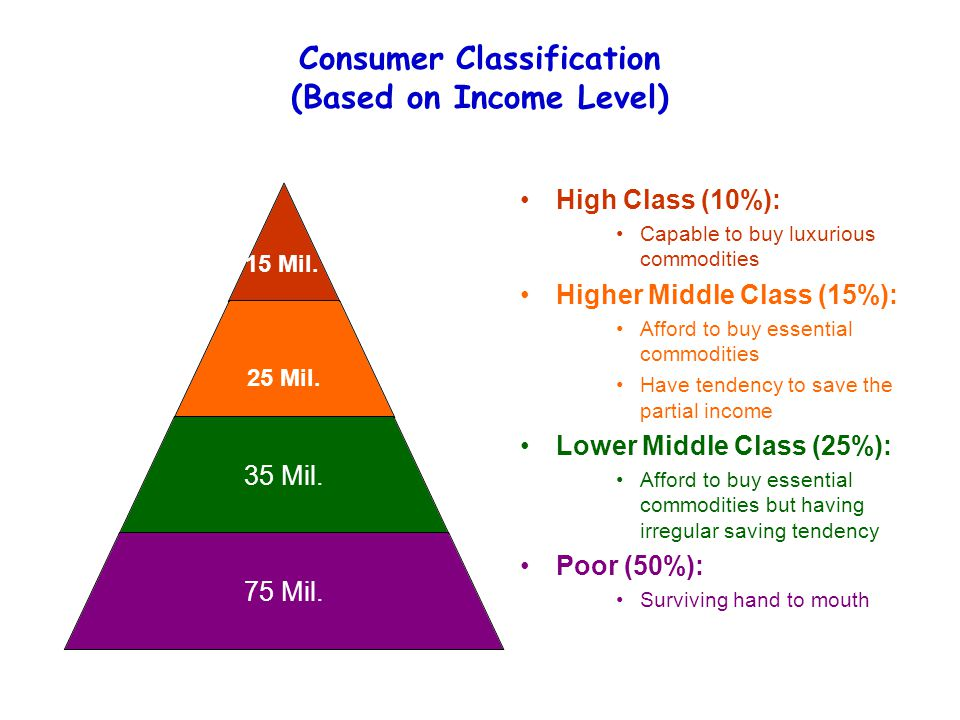 Consumer Classification (Based on Income Level)