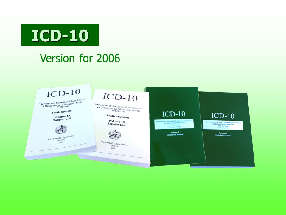 ICD-10 Version for 2006