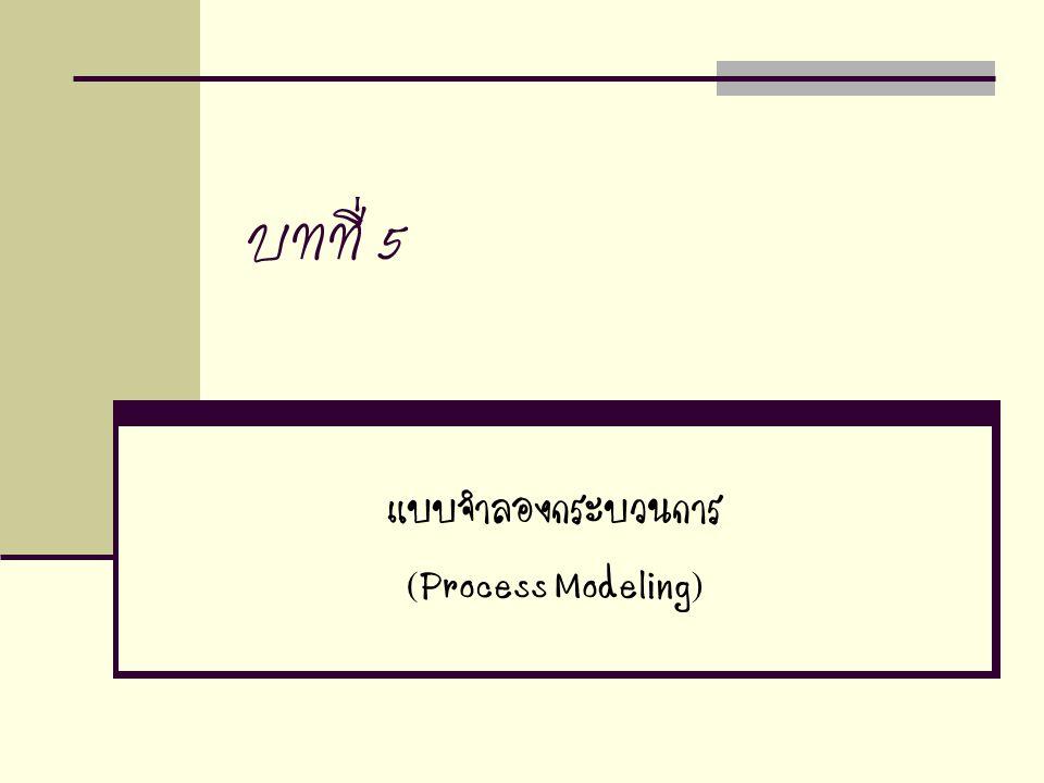 แบบจำลองกระบวนการ (Process Modeling)