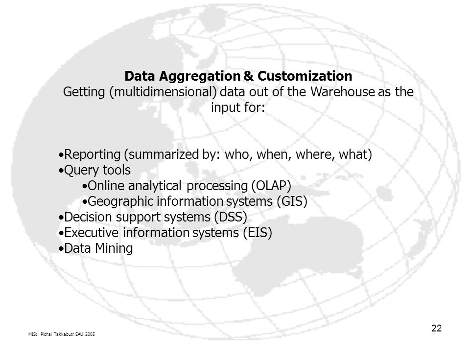 Data Aggregation & Customization