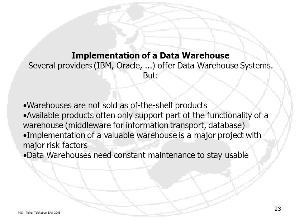 Implementation of a Data Warehouse