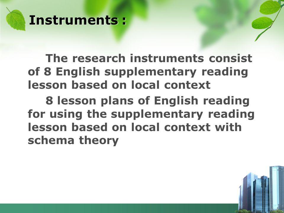 Instruments :