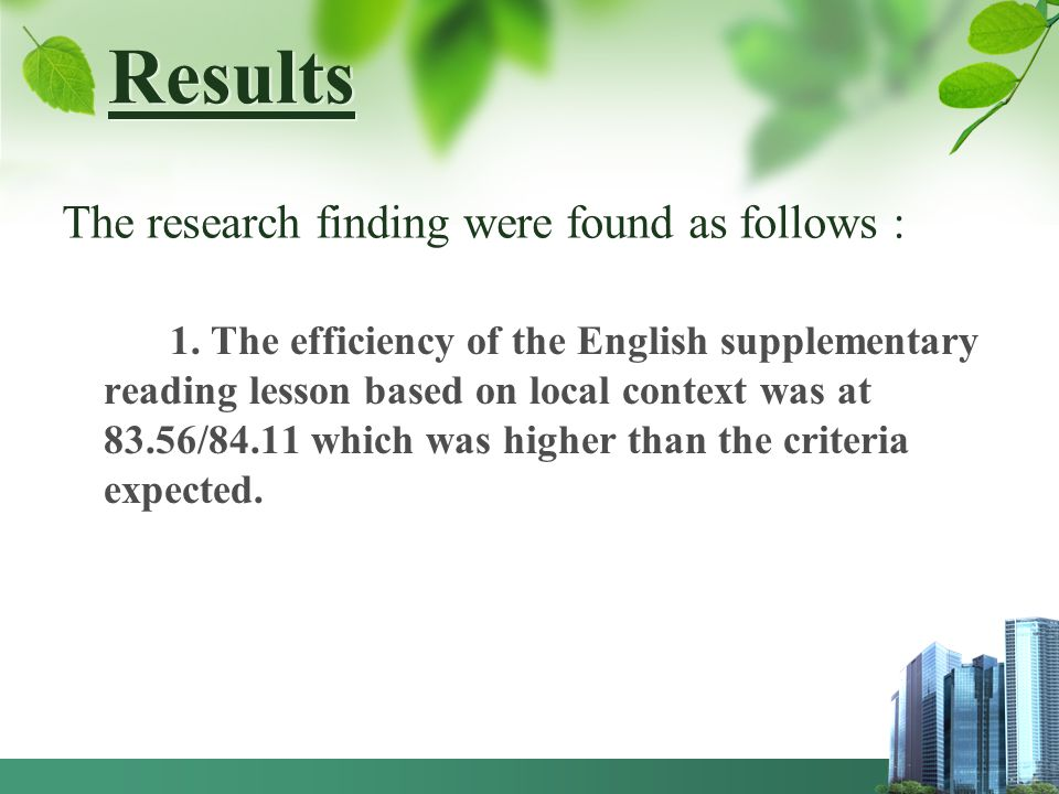 Results The research finding were found as follows :
