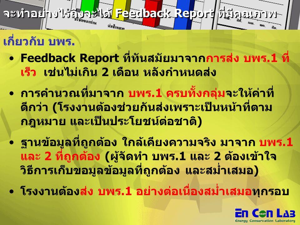 จะทำอย่างไรถึงจะได้ Feedback Report ที่มีคุณภาพ