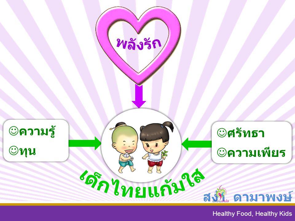 เด็กไทยแก้มใส พลังรัก สง่า ดามาพงษ์ ความรู้ ศรัทธา ทุน ความเพียร